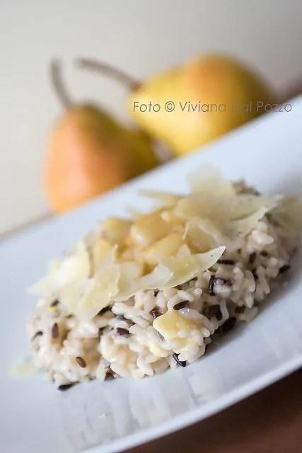risotto maculato pere e formaggio