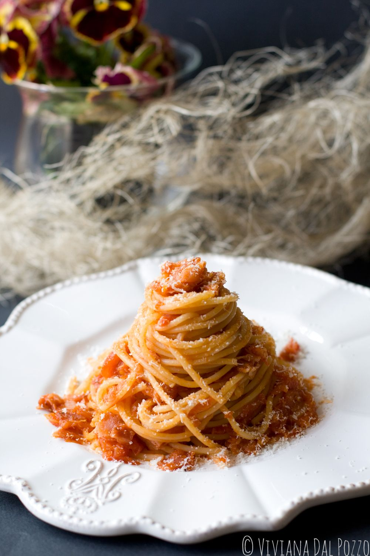 Capellini Al Forno Giada spaghetti all'amatriciana
