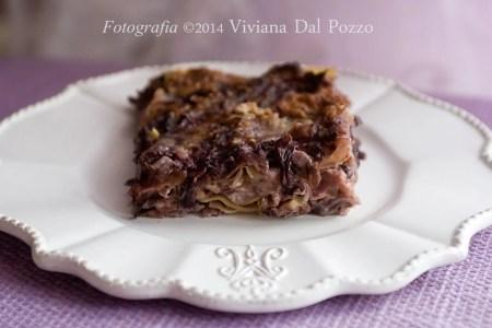 lasagne al radicchio mascarpone e noci