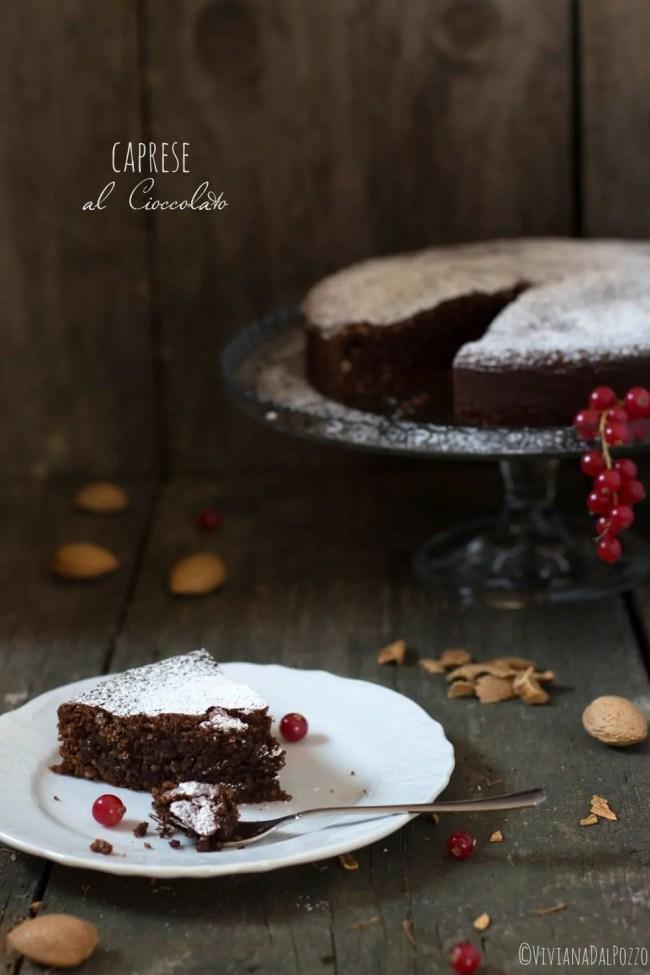 Fetta di torta caprese