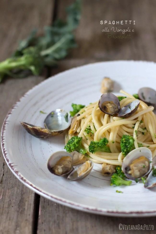 spaghetti alle vongole e broccoletti