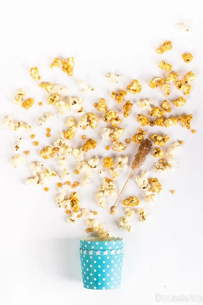 esplosione popcorn caramellati