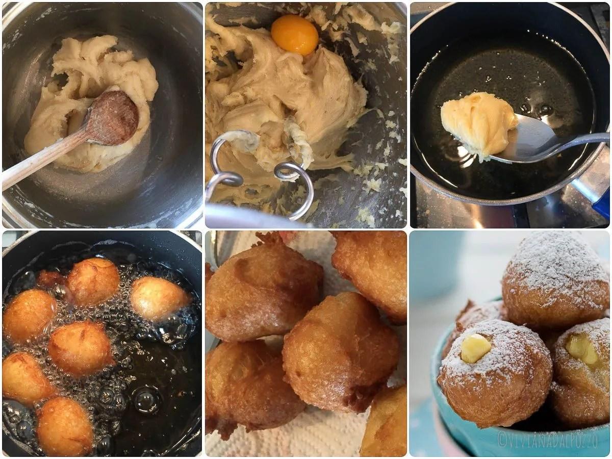 come preparare le frittelle alla crema