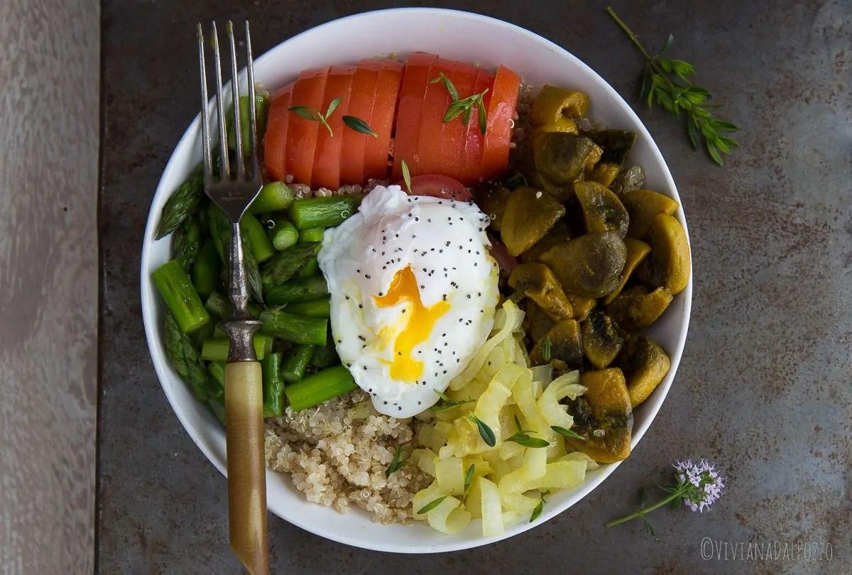 insalata di quinoa e asparagi