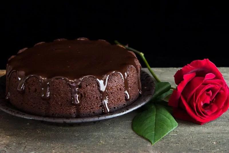 Torta al cioccolato fondente con Ganache