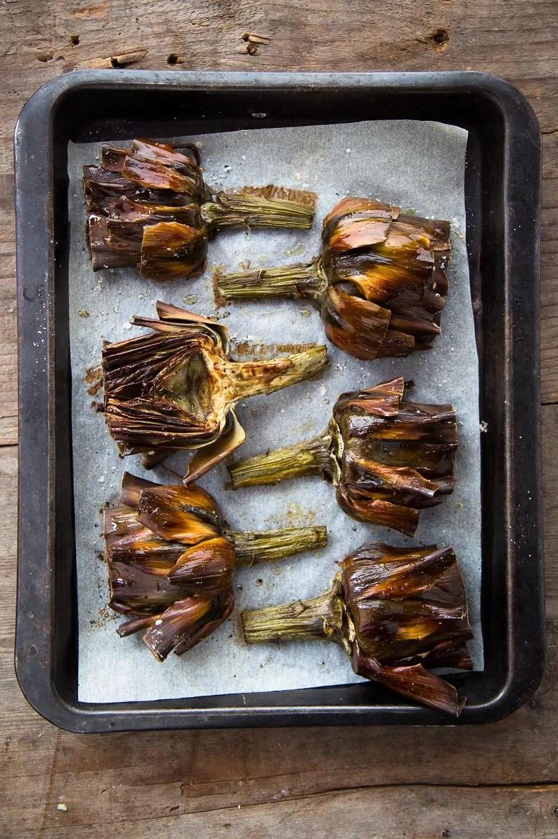 carciofi arrostiti al forno