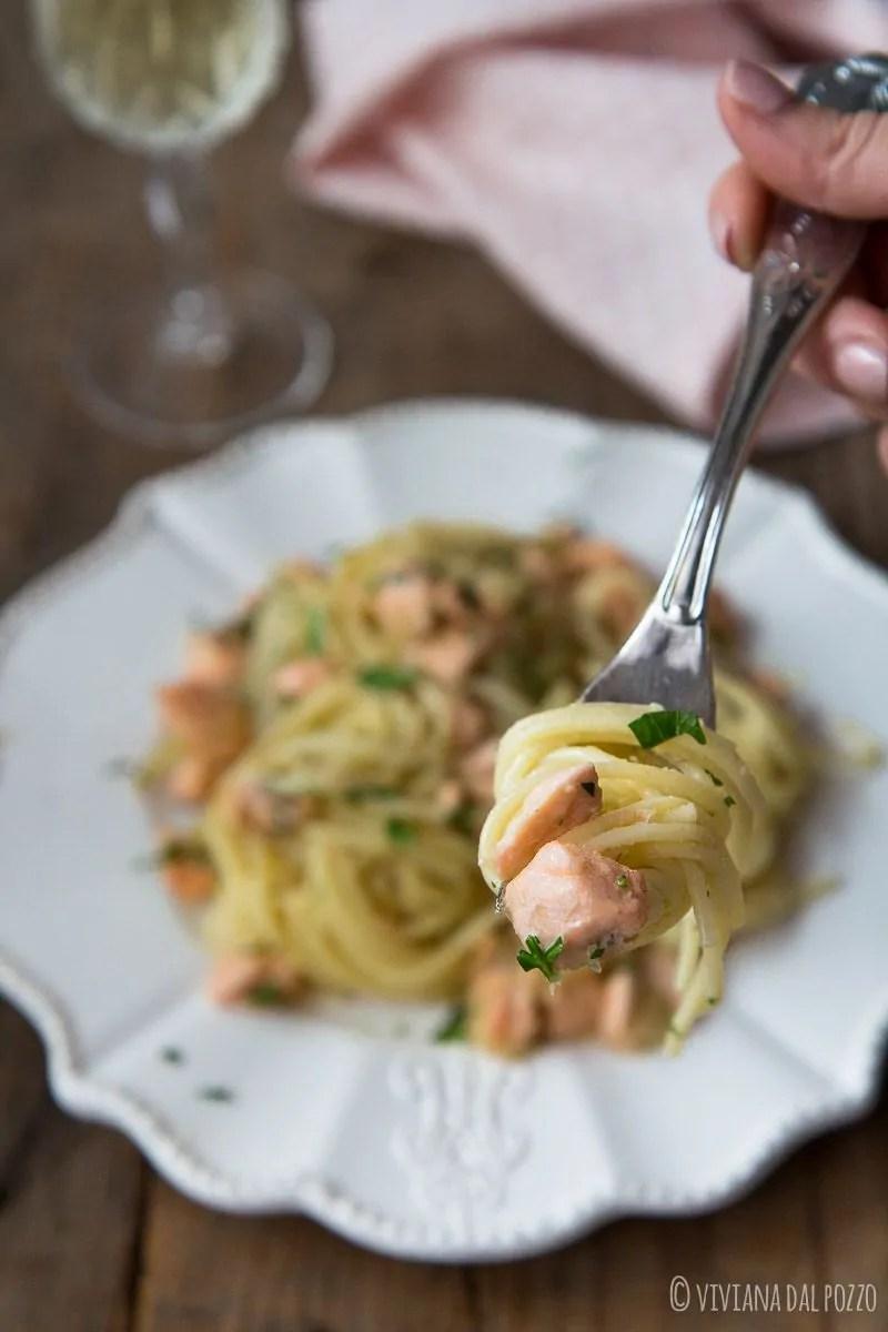 pasta con salmone e finocchio