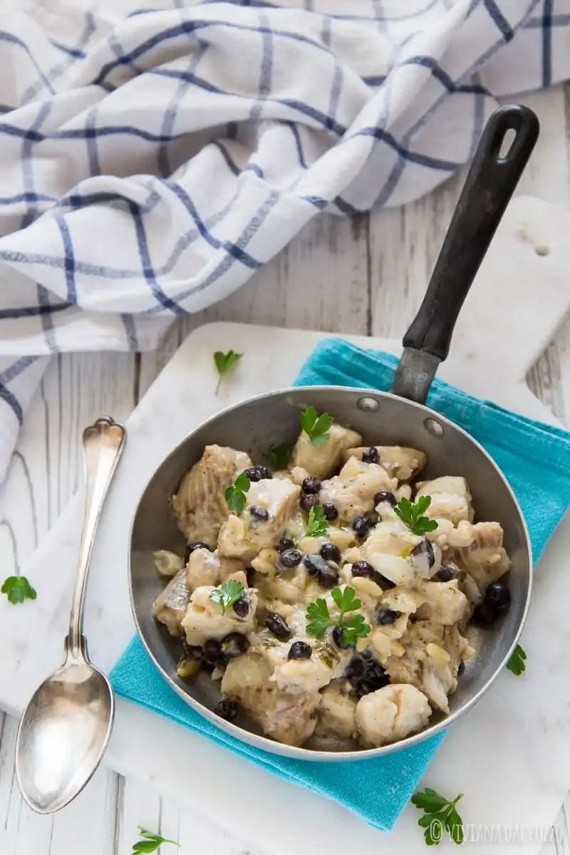 Filetti di merluzzo in padella in agrodolce cosa ti preparo per cena - Cucinare merluzzo surgelato ...
