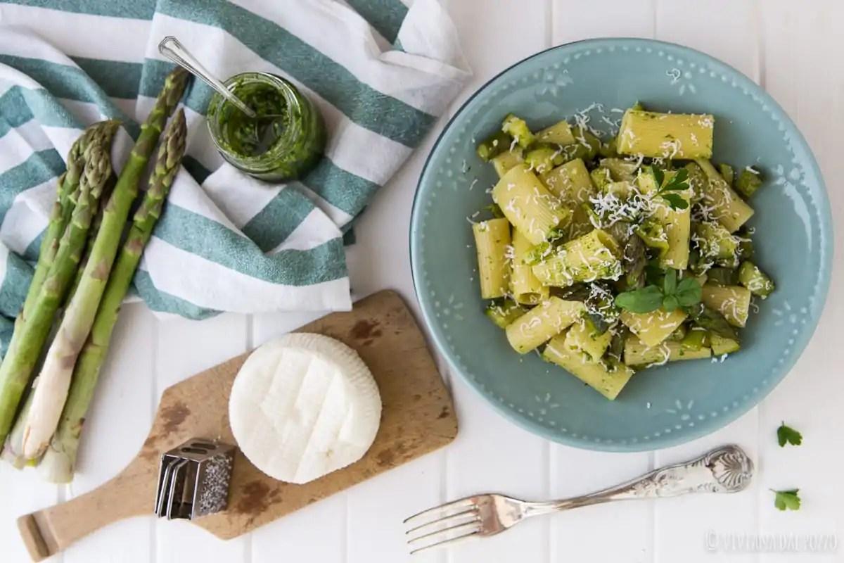 pasta pesto rucola e verdure