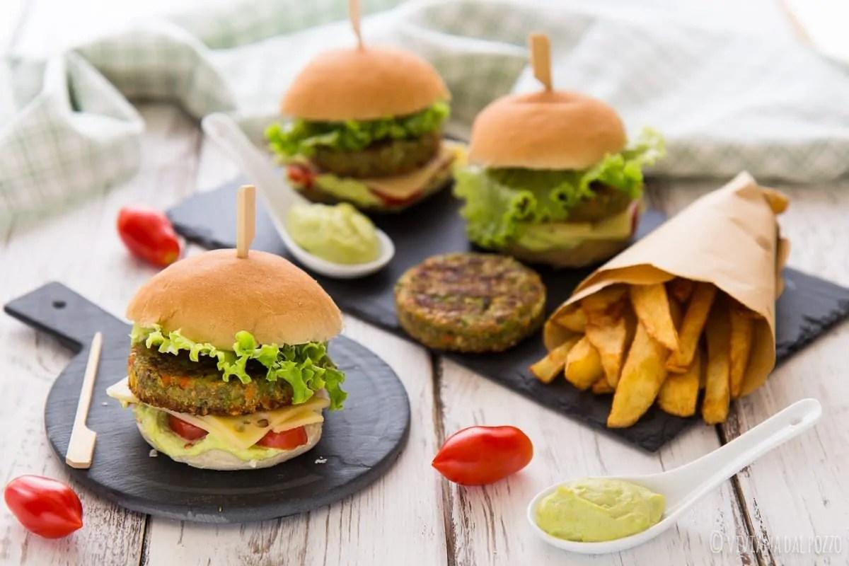 mini burger vegetali con maionese di edamame