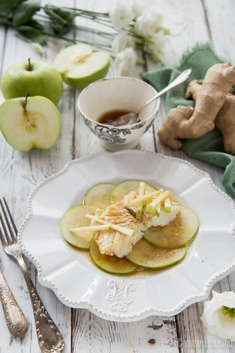 Baccalà freddo con mele e zenzero