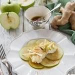baccalà con mele e zenzero