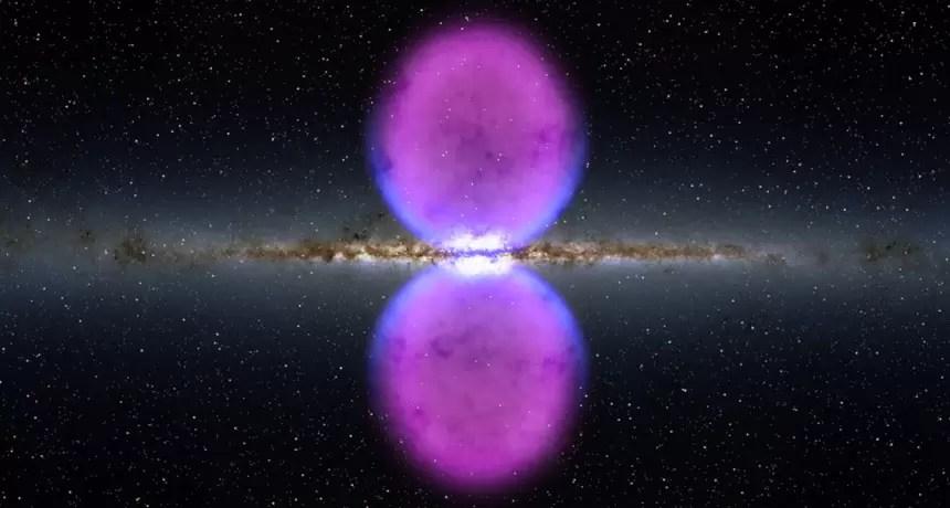 Scoperti due grandissimi flussi a raggi-X che collegano la Via Lattea a misteriose bolle di raggi gamma