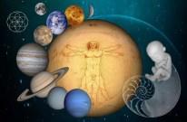 uomo vitruviano universo