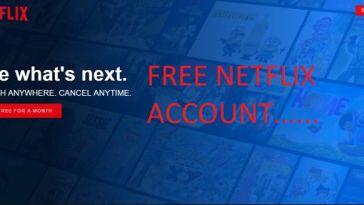 Free Netflix Accounts That work properly