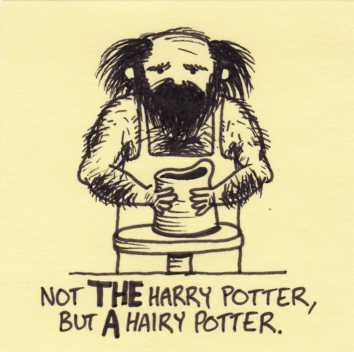 """HairyPotter"" with beard"