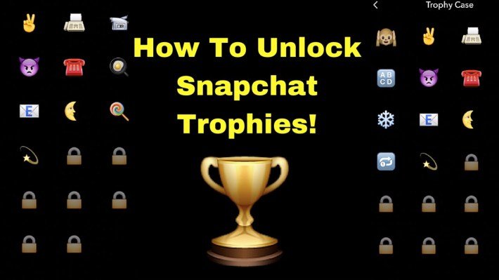 unlocking snapchat trophies