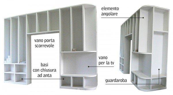 Separare cucina e soggiorno con un mobile a ponte sulla porta  Cose di Casa