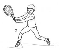 Disegni per bambini sul tennis da colorare