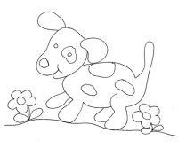 Disegno di cane pezzato