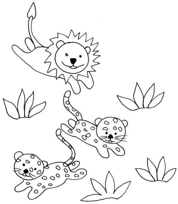Felini 6 Disegni Per Bambini Da Colorare