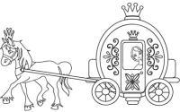 Cenerentola nella carrozza: disegno da colorare - Cose Per ...
