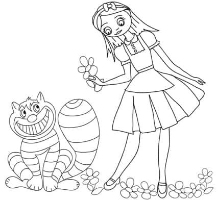 Disegno Dello Stregatto Di Alice Nel Paese Delle Meraviglie