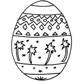 Uovo Di Pasqua Da Colorare Cose Per Crescere