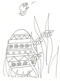 Uovo di Pasqua da colorare