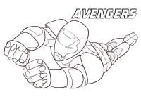 Iron Man Avengers da colorare - Cose Per Crescere
