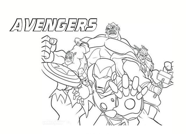 The Avengers da colorare