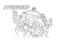 The Avengers da colorare - Cose Per Crescere