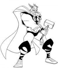 Thor che combatte da colorare - Cose Per Crescere
