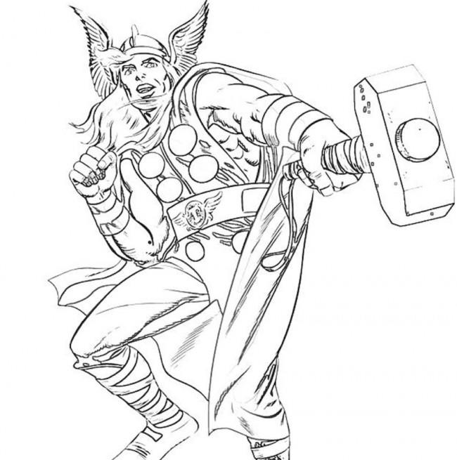 Thor, super eroe da colorare