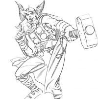 Thor, super eroe da colorare - Cose Per Crescere