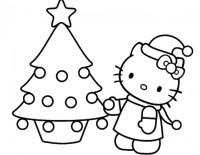 Hello Kitty da colorare per Natale - Cose Per Crescere