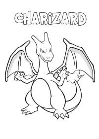 Pokemon Charizard da colorare