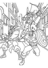 Disegno di Thor, Capitan America e Occhio di Falco - Cose ...
