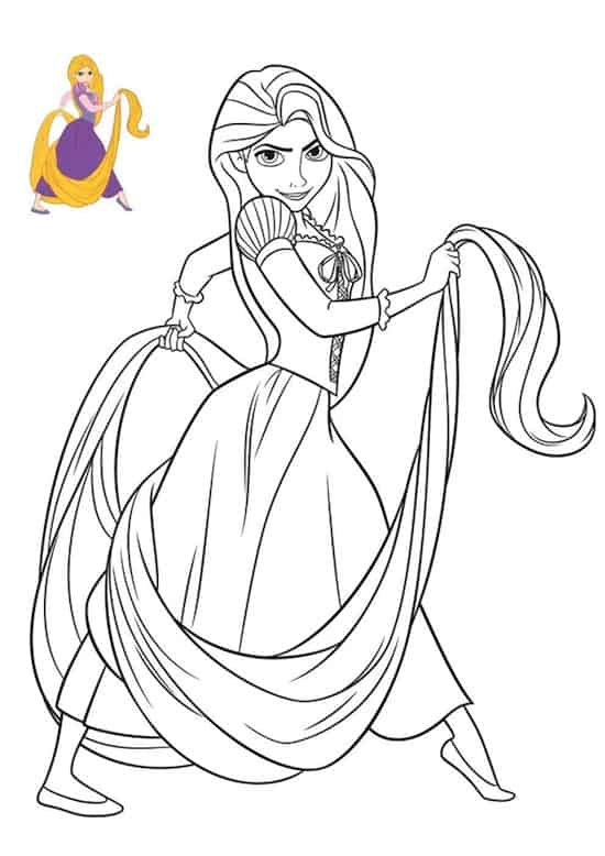 Disegno di Rapunzel
