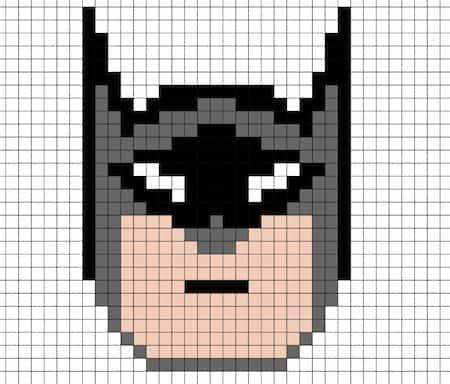 Disegno Di Batman In Pixel Art Da Stampare Gratis Con