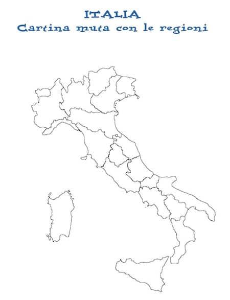 Cartina D Italia Con Capoluoghi Di Regione.Cartina Italia Politica Con Regioni Guyclean