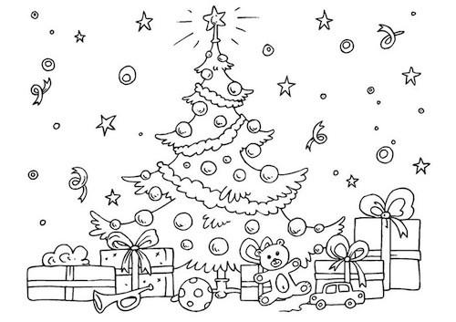 È perfetto per decorare le finestre o i muri di una scuola dell'infanzia, una materna o una primaria, ma può essere una bella decorazione anche per la propria casa. Albero Di Natale Per Bambini Da Colorare Un Disegno Da Stampare Gratis