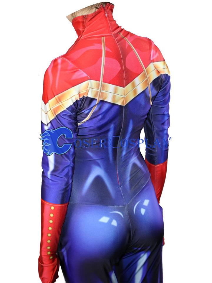 2018 Captain Marvel Carol Danvers Halloween Costume