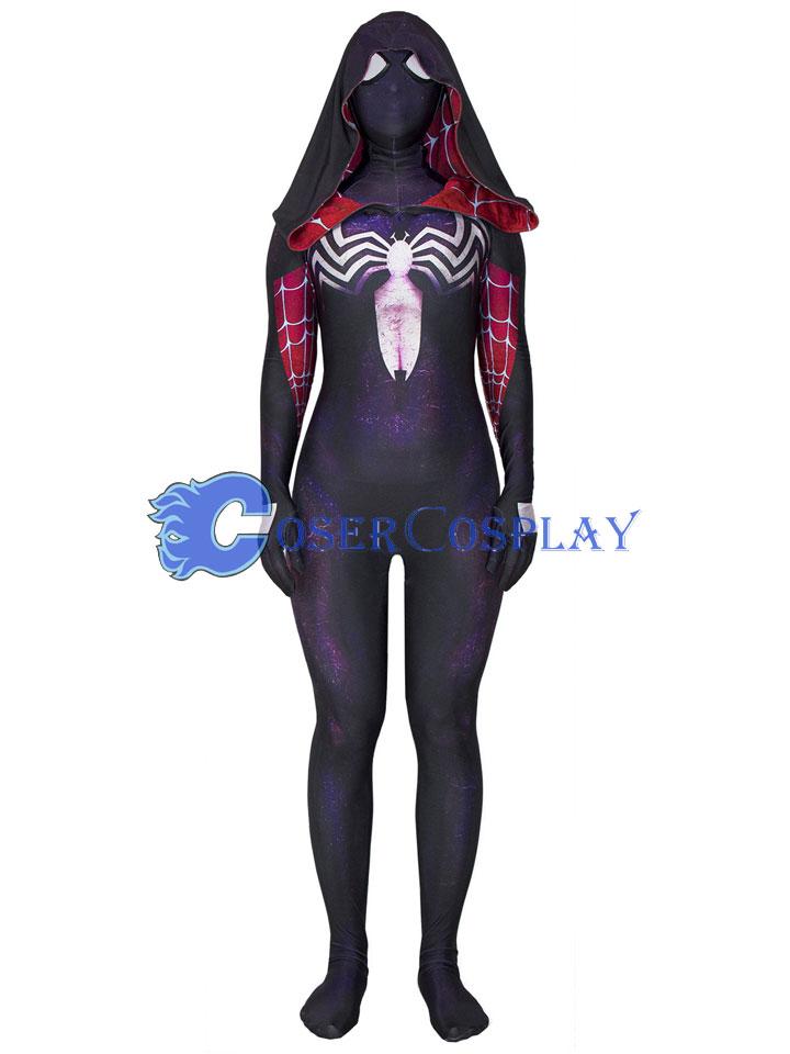 2018 Venom Spider Gwenom Sexy Halloween Costumes For Women