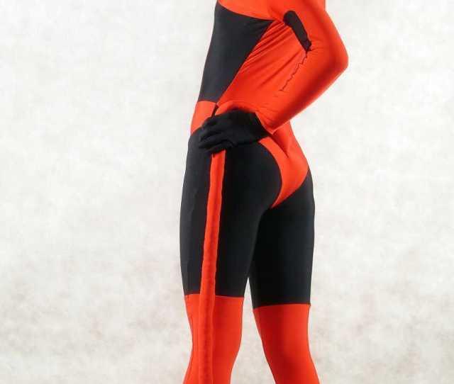 Red Sexy Halloween Costumes For Women Zentai