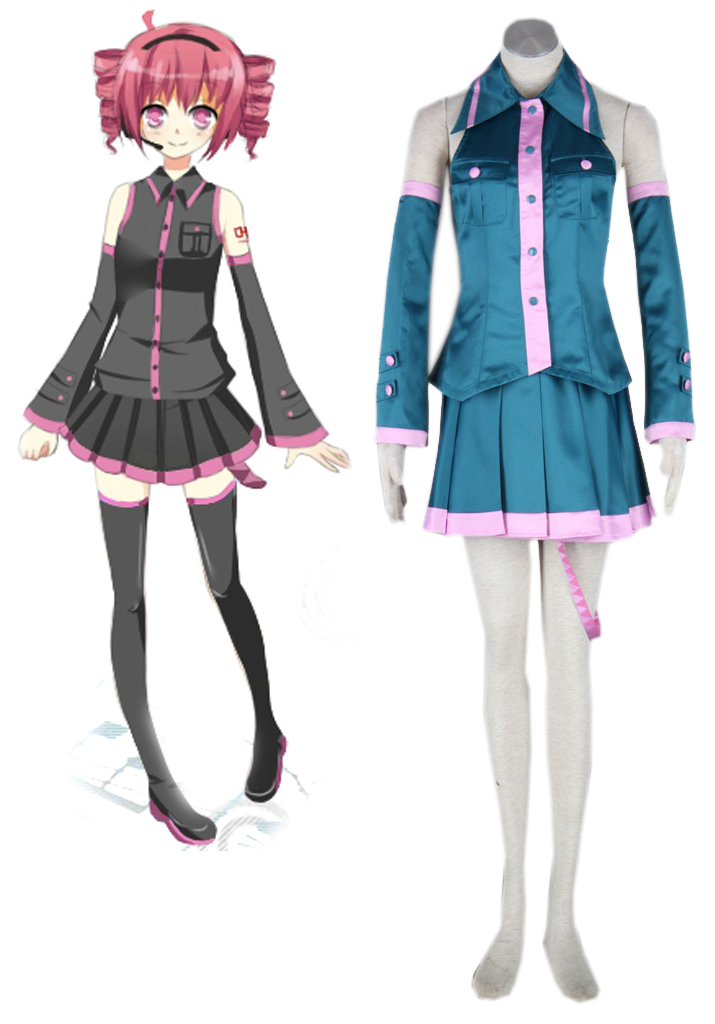 Vocaloid Kasane Teto Cosplay Costume