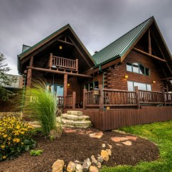 Western Kitchen Table White Storage Cabinet Ohio Luxury Log Cabin Rental   Coshocton Crest Lodge