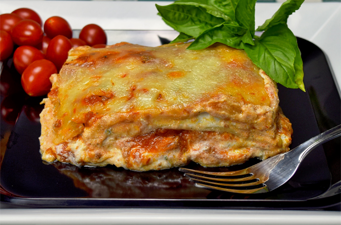 Three Meat, Three Cheese Lasagna made by Judy Bucciarelli - Photography by Eligio Bucciarelli