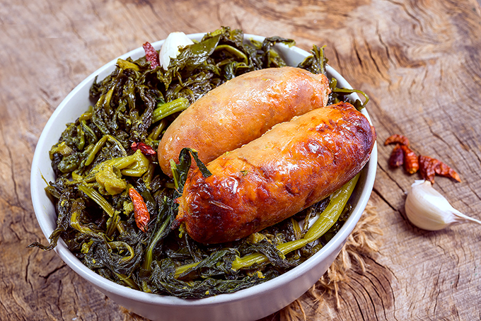 Broccoli rabe wit sausage