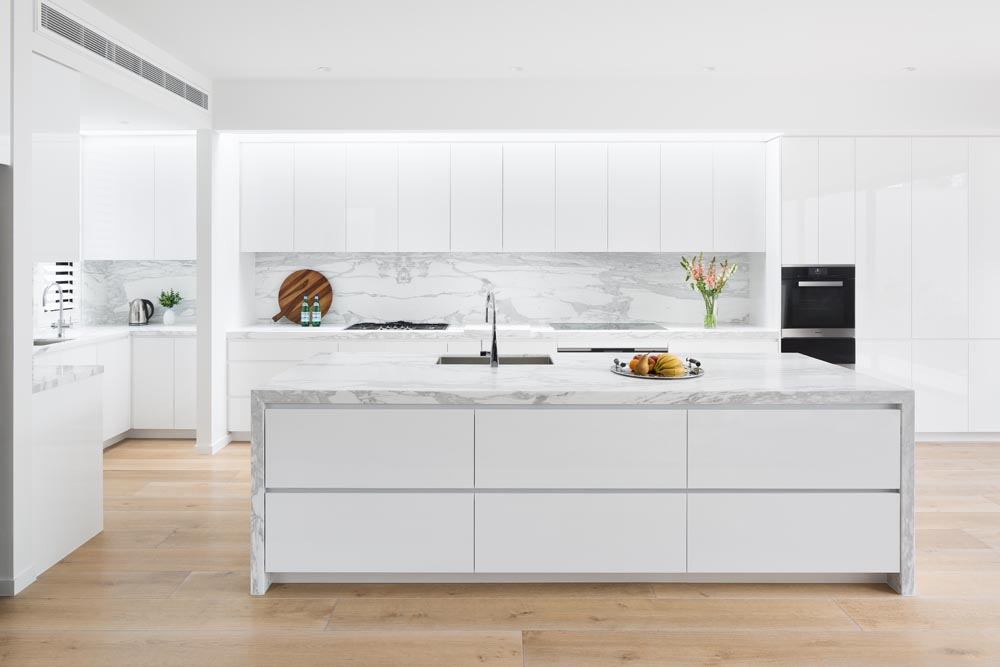Sleek White Kitchen  Middle Park  COS Interiors Pty Ltd